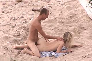 Prcačka na písečné pláži